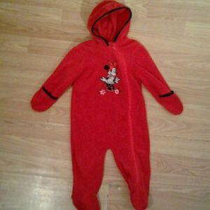 Red Minnie Mouse Onesie Size 6/9 Months